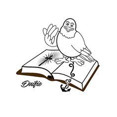 Duifie (logo)  Download de kleurplaat op www.dichter-bij.nl/kleurplaten/
