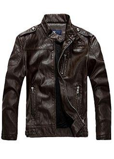 Minibee Men's Faux PU Leather Rider Jacket Blazer (M, Coffee 2) Minibee http://www.amazon.com/dp/B01A0PZ31K/ref=cm_sw_r_pi_dp_nKBJwb0VQH5J3