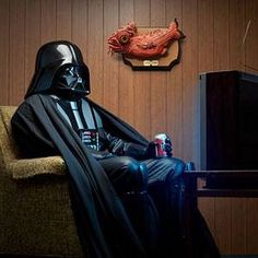 Darth Vader watching TV...!!!