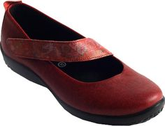 Women's Arcopedico Lisa Mary Jane - Red Flower Lytech with FREE Shipping & Exchanges. Easy and comfortable to wear, the Lisa Mary Jane with an asymmetrical strap is an excellent addition