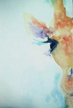 Watercolor giraffe