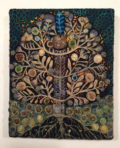 Więcej Pinów na Twoją tablicę textile art - WP Poczta Sewing Machine Embroidery, Hand Embroidery Designs, Applique Designs, Embroidery Applique, Beaded Embroidery, Embroidery Patterns, Creative Embroidery, Textiles, Thread Painting