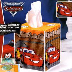 Plastic Canvas Free Patterns With | Janlynn / Disney - Cars Tissue Box Cover - Cross Stitch World