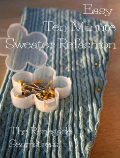Sweater refashion tutorial