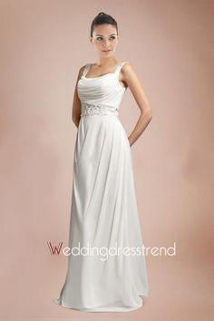 ebe3a3ca69bbe [$149.99] Draped Appliqued Beaded Column Chiffon Wedding Dress. Wedding  Dresses Plus SizePlus ...