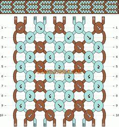 Normal friendship bracelet pattern added by KotinKandy. Craft Patterns, Jewelry Patterns, Friendship Bracelet Patterns, Friendship Bracelets, Diy Hemp Bracelets, Embroidery Floss Bracelets, Bracelets With Meaning, Micro Macramé, Bracelet Tutorial