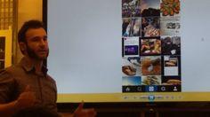 Aitor Azurki explicando la importancia de las RRSS en la Hostelería en @FomentoSS Aitor Azurki Ostalaritzan sare sozialek daukaten garrantzia azaltzen