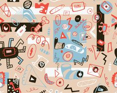 Artist Gallery, Concept, Patterns, Digital, Create, Illustration, Block Prints, Patrones, Pattern