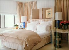 Interior design by Vicente Wolf - Vicente's beds always look so soft, luxurious and welcoming.