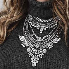 Glamorous Over The Top Statement Necklace #fashion #style #photooftheday - 27,90 € @happinessboutique.com