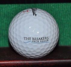 The Breakers Palm Beach logo golf ball. Titleist. Ball is in excellent condition. The ball pictured is the ball for sale.