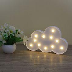 3D Marquee Nuvem Noite Lâmpada com Bateria operado 11LED Nuvem Branca Letra luz Para Decoração de Natal Presente do Miúdo em Luzes da noite de Luzes & Iluminaçao no AliExpress.com | Alibaba Group