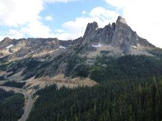 Early Winters Spires at Washington Pass east of North Cascades National Park