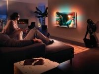 Telewizor Philips LED Smart z serii 9000 z Ambilight Spectra 3 i Perfect Pixel HD Led, Furniture, Home Decor, Decoration Home, Room Decor, Home Furnishings, Home Interior Design, Home Decoration, Interior Design