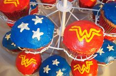 Wonder Woman Cupcakes...these look easy enough