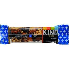 Kind Bar - Blueberry Pecan Plus Fiber - Case of 12 - 1.4 oz - Ingredients: Almonds, Blueberries (Blueberry Pieces [ (Blueberry, Apple, and Plum Puree) , Raw Sugar, Glycerol (Natural) , Citrus Fiber, Pectin], Dried Blueberries [Blueberries, Sugar, Sunflower Oil) , Raisins, Pecans, Honey, Cashews, Non-GMO Glucose,Crisp Rice, Chicory Fiber, Soy Lecithin, Natrual Flavors. Organic: NA Gluten Free: Gluten Free Dairy Free: Yes Yeast Free: No Wheat Free: Yes Vegan: No Kosher: No GMO Free: NA Summer…