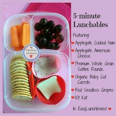 My Epicurean Adventures: Easy Lunchables in #easylunchboxes containers