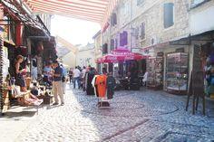 BOSNIA.  A cobbled street.