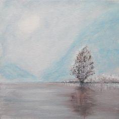 Winter Brown Tree Painting Landscape Acrylic by PuzzledbyArtmondo