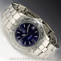 Men's Tag Heuer Blue Professional 200 Meters 2000 Exclusive Quartz Watch
