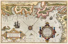 Old map Oslo 1591
