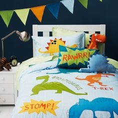 Boys Quilt Covers and Bed Linen from Adairs Kids - Dinosaur