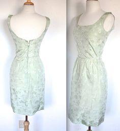 Vintage 1950s Dress // 50s 60s Mint Green by TrueValueVintage