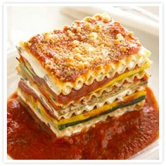 Vegetable Lasagna with Stella® Goat Cheese - Great alternative to traditional lasagna!