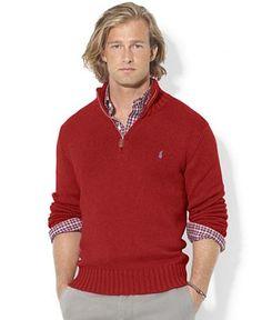 d2d20a99b6b09 Polo Ralph Lauren High-Twist Cotton Half-Zip Mockneck Sweater Men - Sweaters  - Macy s