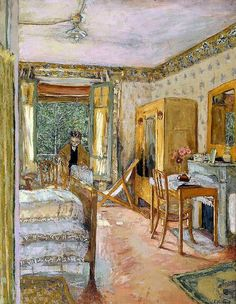 Sunlit Interior, 1920 /Edouard Vuillard Reminds me of Van Gogh Pierre Bonnard, Edouard Vuillard, Paul Gauguin, Monet, Impressionist Artists, Paintings I Love, Matisse, Klimt, Les Oeuvres