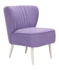 Look at this #zulilyfind! Lavender Mallory Accent Chair #zulilyfinds