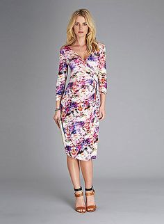 Isabella Oliver Vivien Print Maternity Dress: It doesnt get more Spring-y than Isabella Olivers Vivien Print Maternity Dress ($215). The bold floral pattern and faux-wrap style are designed specifically for Springs parties and work events. Best of all, the style works well post-pregnancy too.