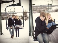 30 Ways to Work Winter into Your Engagement Shoot via Brit + Co.