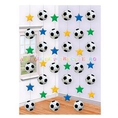 Decoratiune perdea mingii de fotbal