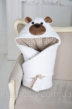 Конверт-одеяло на выписку Мишка , фото 2