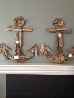 Driftwood Anchor and Whale