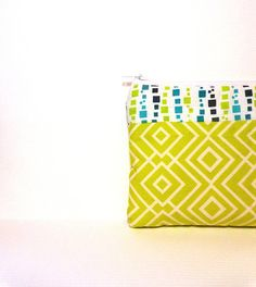 Small Cotton Zipper Pouch Small Wallet Small by handjstarcreations, $8.50