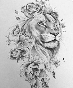 Tattoo Lion Hip Tat 55+ Ideas #tattoo