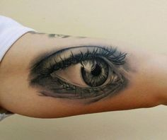 Realistic Eye Tattoo | Arm Realistic Eye Tattoo by Peter Tattooer