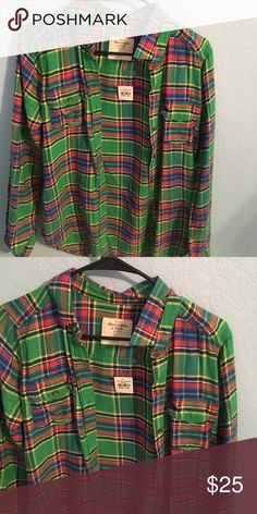 abercrombie & fitch flannel brand new Abercrombie & Fitch Tops