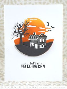 Spook Manor Card by Nichole Heady for Papertrey Ink (August 2015)