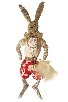 Silver Hare by Alice Mary Lynch Doll Maker Doll Maker, Fairy Dolls, Alice, Handmade Toys, Hare, 3 D, Plush, Bunny, Textiles