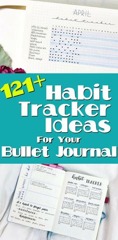 Bullet Journal - Get over 100 different ideas on what to put in your habit trackers. Bullet journal inspiration on how to create the perfect bullet journal habit trackers, and tons of ideas for different types of trackers to create! Check out some of my favorite stationery tools that make habit tracking easier.