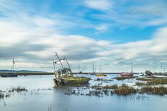 """Still Waters, Heswall Shore, Banks Rd, Wirral, """"Sheldrake's"""" high tide at Heswall sure, another day to get my feet wet, ND-10-stop filter used ,"""