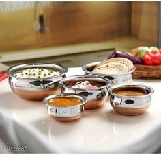 Pots Copper Bottom Handi Pot 5 Piece Set/Steel Handi Set  Copper Bottom Handi Pot 5 Piece Set/Steel Handi Set Country of Origin: India Sizes Available: Free Size   Catalog Rating: ★4 (2383)  Catalog Name: Copper Bottom Handi Pot 5 Piece Set/Steel Handi Set CatalogID_1135304 C137-SC1596 Code: 725-7112337-9501