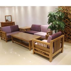 Bamboo Furniture Sofa Coffee Table
