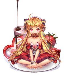 Anime chibi food
