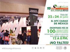 Visita del 22 al 24 de junio el WTC ciudad de México encontraras más de 100 productos certificados, exportaciones y meses de negocios, las puertas estan abiertas de 12 a 8 pm. ¡no faltes!