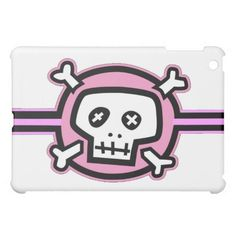 Pink Skull  Case For The iPad Mini