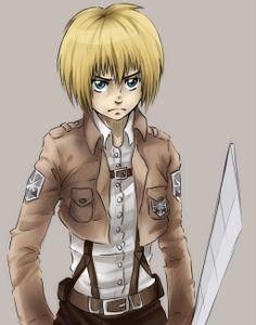 Armin actually looks SERIOUS